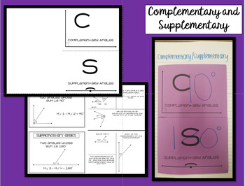 Complementary and Supplementary Angles Foldable