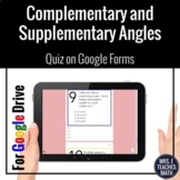 Complementary and Supplementary Angles Google Form