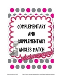 Complementary and Supplementary Angles Match