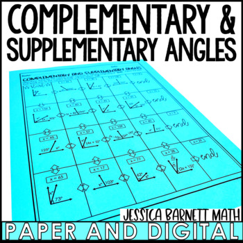 Complementary and Supplementary Angles Maze Activity