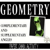 Complementary and Supplementary Angles Activity Paper Chain