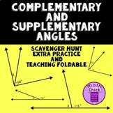 Complementary and Supplementary Angles Scavenger Hunt! NOW GOOGLE READY!