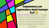 Complementary and Supplementary Angles Scavenger Hunt (with Emojis!)