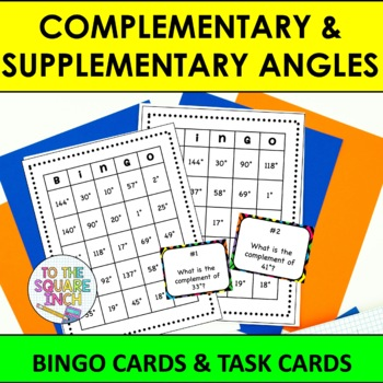 Complementary and Supplementary Bingo and Task Cards