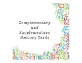 Complementary and Supplementary Memory Cards