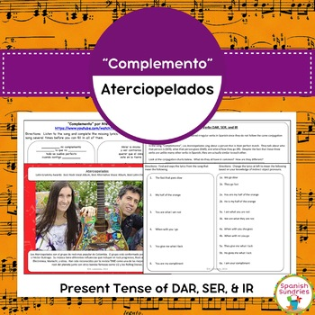 """Complemento"" & the Present Tense of Dar, Ser, and Ir"