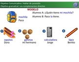 Complementos Directos - Direct Objects lesson using induct