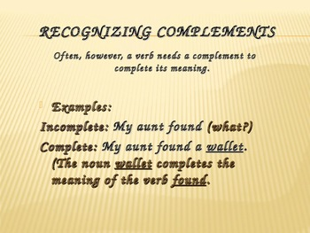 Complements