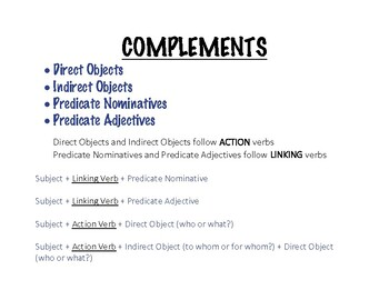 Complements Cheat Sheet