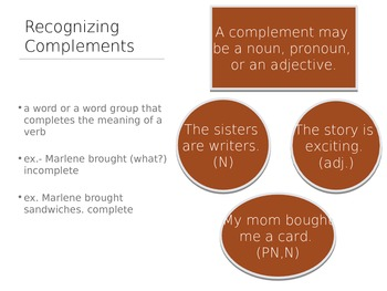 Complements:  Direct Objects, Indirect Objects, and Subject Complements