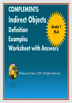 Complements: Indirect Objects