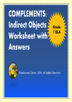 Complements: Indirect Objects Worksheet