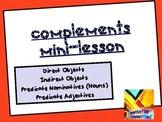 Complements Lesson: Four Complements Grammar Workshop PDF