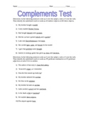 Complements Assessment (Test)