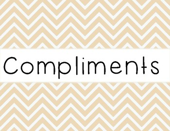 Compliments and Considerations Sentence Frames ESL