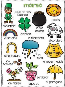Spring Spanish Writing - Completa el cuento - Primavera