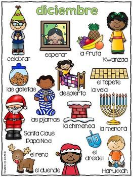 Winter Spanish Writing - Completa el cuento - el invierno