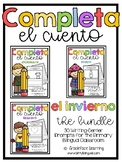 Winter Spanish Writing - Completa el cuento - el invierno