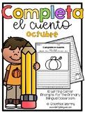 October Spanish Writing - Completa el cuento - octubre