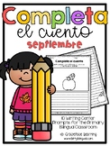 September Spanish Writing - Completa el cuento - septiembre