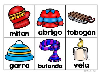 Completan las oraciones invierno (Complete the Sentences in Spanish)