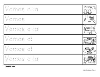 Completa las oraciones la escuela (Complete the Sentences in Spanish)
