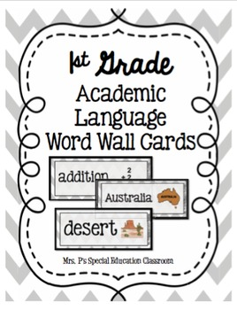 Complete 1st Grade Academic Language Word Wall Cards