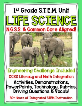 Complete 1st Grade NGSS Life Science Unit
