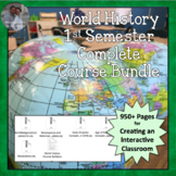 World History Complete 1st Semester Package Plans, Activities CCSS Bundle