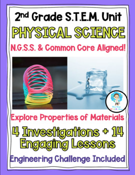 2nd Grade NGSS Physical Science Unit BUNDLE- Lessons, Challenges, Experiments