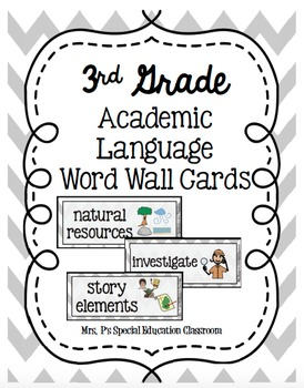 Complete 3rd Grade Academic Language Word Wall Cards
