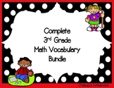 Complete 3rd Grade Math Vocabulary Bundle - word wall, qui
