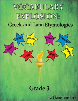 Greek and Latin 3rd Grade Vocabulary Program - Daily Root Word Lessons