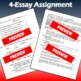 Complete 4-essay Packet: What is an American? With prompts, rubric, & texts