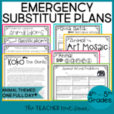 Emergency Substitute Plans: 4th -5th Grade | Substitute Plans