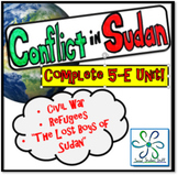 Complete 5E Unit- Refugees, Conflict in Sudan, and the Lost Boys