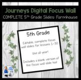 Complete 5th Grade Journeys Digital Focus Wall Slides (Far