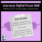Complete 5th Grade Journeys Digital Focus Wall Slides (Pas