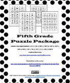 Complete 5th Grade Math Puzzles Package