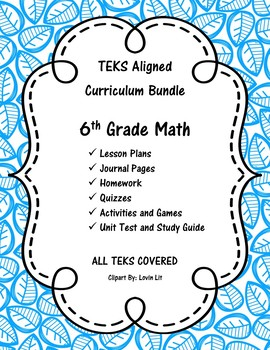 Complete 6th Grade Math Curriculum Bundle - 6th Grade