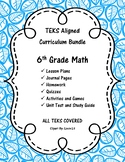 Complete 6th Grade Math Curriculum Bundle - 6th Grade