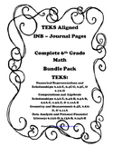 Complete 6th Grade Math INB Bundle Pack - 6th Grade TEKS