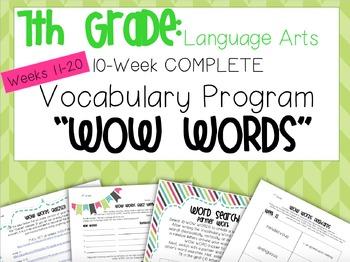 10-Week VOCAB Unit: 7th Grade