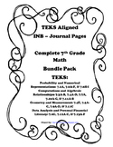 Complete 7th Grade Math INB Bundle Pack - 7th Grade TEKS