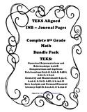 Complete 8th Grade Math INB Bundle Pack - 8th Grade TEKS