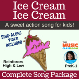 Ice Cream Action Song   Music Opposites   High and Low   m