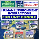 BUNDLE: Adaptations & Modifications - Human Environment Interactions 5-E Unit