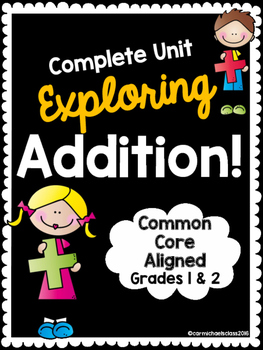 FULL UNIT on Addition: Foldables, Activities, Assessments, Vocab Cards