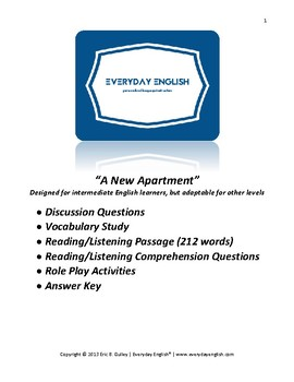 Complete Adult ESL Lesson (A New Apartment)