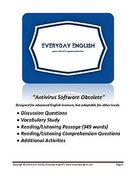 Complete Adult ESL Lesson (Antivirus Software Obsolete)